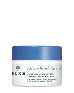 Nuxe Creme Fraiche De Beaute 48hr Moisturising Rich Cream for Dry Skin, 50 ml.