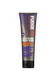 Fudge Clean Blonde Damage Rewind Violet Toning Shampoo, 250 ml.