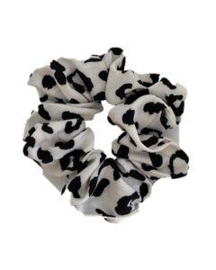JA•NI hair Accessories - Hair Scrunchie, The White Leo