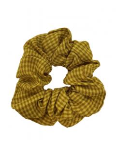 JA•NI Hair Accessories - Hair Scrunchies, The Yellow Thin Checkered