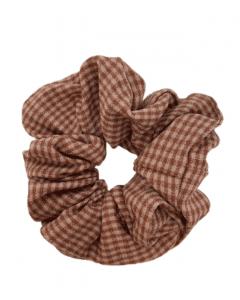 JA•NI Hair Accessories - Hair Scrunchies, The Pink Thin Checkered
