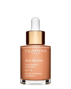 Clarins Skin Illusion Foundation SPF 19 112 Amber, 30 ml.